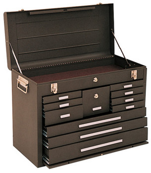 Kennedy Machinists' Chests, 26 1/8 in x 11 7/8 in x 18 7/8 in, Brown Wrinkle (1 EA)