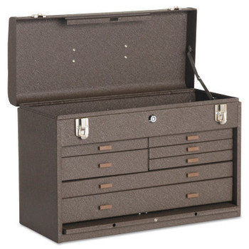 Kennedy Machinists' Chests, 20 1/8 in x 8 1/2 in x 13 5/8 in, 1694 cu in, Brown Wrinkle (1 EA)