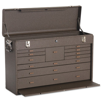 Kennedy Machinists' Chests, 26 3/4 in x 8 1/2 in x 18 in, 3000 cu in, Brown Wrinkle (1 EA)