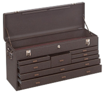 Kennedy Machinists' Chests, 26 3/4 in x 8 1/2 in x 13 5/8 in, Brown Wrinkle (1 EA)