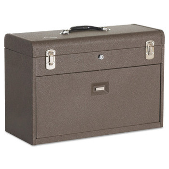Kennedy Machinists' Chests, 20 1/8 in x 8 1/2 in x 13 5/8 in, 1800 cu in, Brown Wrinkle (1 EA)
