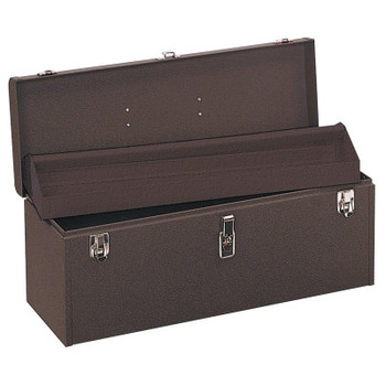 """Kennedy 24 """" Professional Tool Boxes, 24 1/8""""W x 8 5/8""""D x 9 3/4""""H, Steel, Brown Wrinkle (1 EA)"""