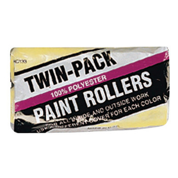 Linzer Economy Twin-Pack Roller Covers, 9 in, 3/8 in Nap, Polyester Fabric (36 PK)