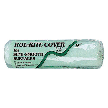 Linzer Rol-Rite Roller Covers, 9 in, 3/8 in Nap, Knit Fabric (24 EA)