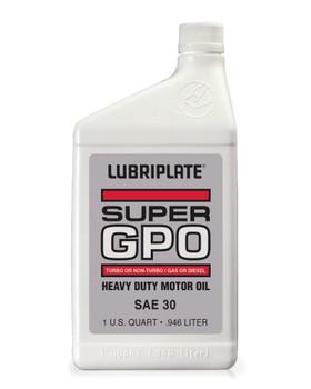LUBRIPLATE GPO MOTOR OIL - SAE 30, 1 qt. Bottle, (12 BTL/CS)