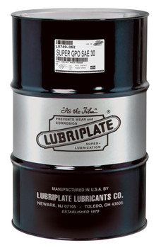 LUBRIPLATE GPO MOTOR OIL - SAE 30 (55 Gal / 400lb. DRUM)