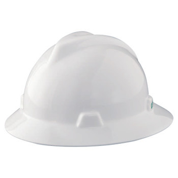 MSA V-Gard Protective Hats, Staz-On, Hat, White (1 EA)