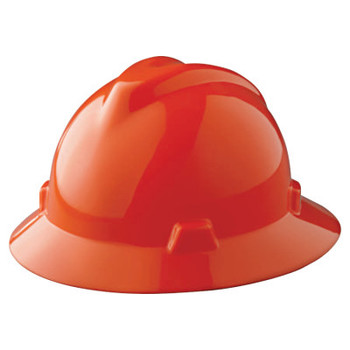 MSA V-Gard Protective Hats, Staz-On, Hat, Orange (1 EA)