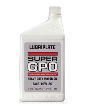 LUBRIPLATE GPO MOTOR OIL - SAE 10W-30, 1 qt. Bottle, (12 BTL/CS)