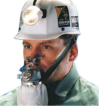 MSA W65 Self-Rescuer Respirators, Carbon Monoxide, Includes Protective Steel Case (1 EA)