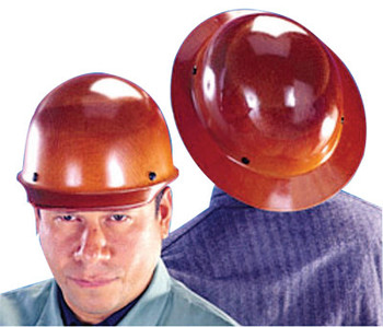 MSA Skullgard Protective Caps and Hats, Staz-On, Hat, Lamp Bracket/Cord Holder, Tan (1 EA)