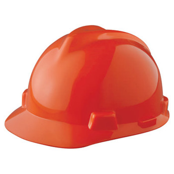 MSA V-Gard Protective Caps, Fas-Trac Ratchet, Cap, Orange (1 EA)