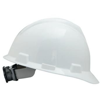 MSA V-Gard Protective Caps, Fas-Trac Ratchet, Cap, White, Large (1 EA)