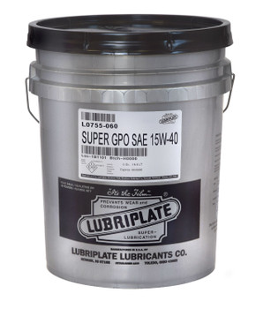LUBRIPLATE GPO MOTOR OIL - SAE 15W-40 CJ-4, 05gal., (1 PAIL/EA)