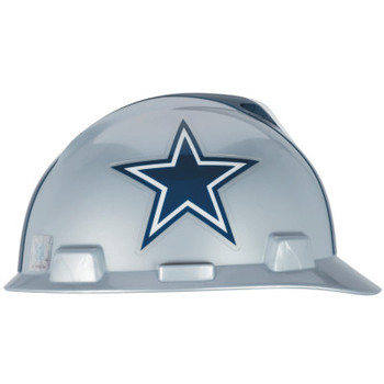 MSA Officially-Licensed NFL V-Gard Helmets, 1-Touch, Dallas Cowboys Logo (1 EA)