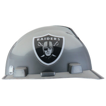 MSA Officially-Licensed NFL V-Gard Helmets, 1-Touch, Oakland Raiders Logo (1 EA)