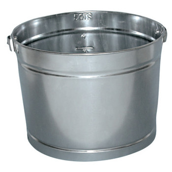 Magnolia Brush 5QT GALVANIZED METAL PAIL (24 EA)