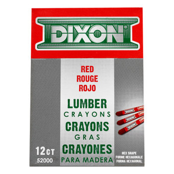 Dixon Ticonderoga Lumber Crayons, 1/2 in X 4 1/2 in, Red (12 MKR)