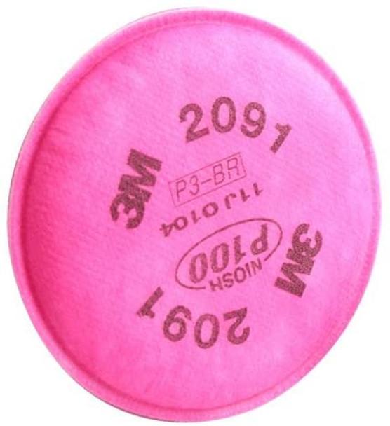 3M Particulate Filter 2091, P100, 2000 Series, Magenta (2 EA)
