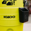 The Igloo PPE handwash station includes a soap caddy suitable for a bottle of anti-bacterial handwash of your choosing