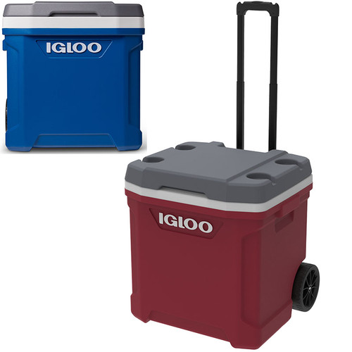 The Igloo Latitude 60 wheeled roller cool ice cool box replaces the Maxcold Quantum 52 cool box.
