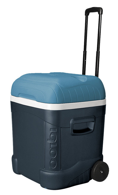 Main image of the Igloo Maxcold 70 large wheeled portable cool box in blue