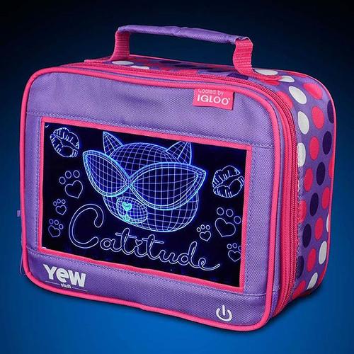 Yew by Igloo - Catitude Pop Lights Lunch Box main image