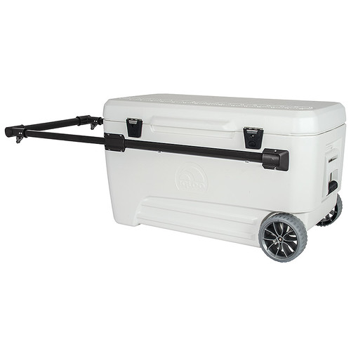 The Igloo Marine Ultra Glide 110 is a large wheeled chest cool box with 104 litres of storage capacity 34377