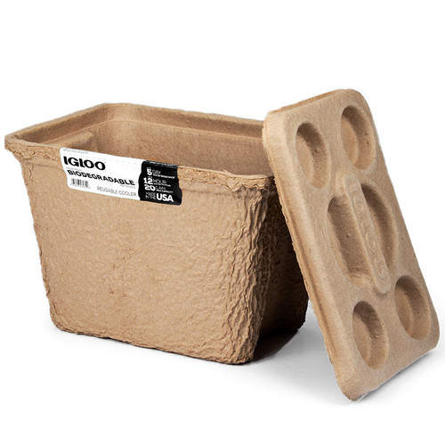 The RECOOL cool box from Igloo is 100% biodegradable and perfect for use at festivals, the beach, camping trips