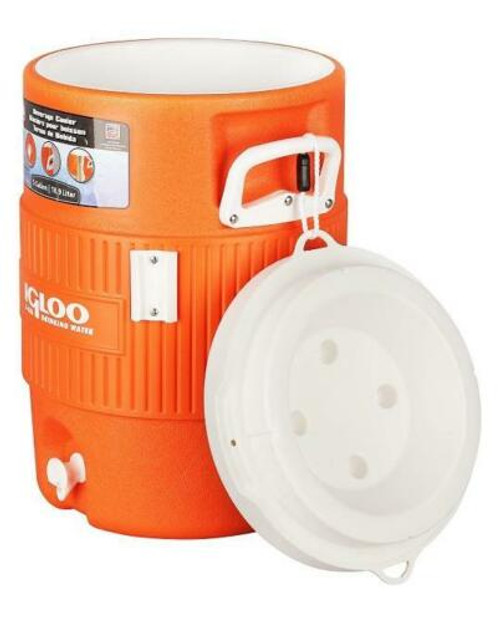 Igloo Coolers 5 Gallon Seat Top Water Dispenser Jug