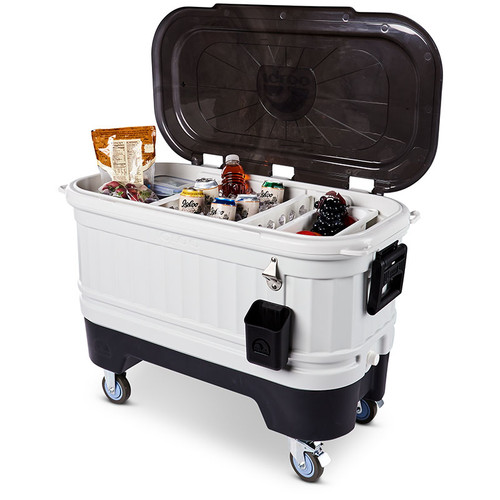 The Igloo Party Bar wheeled ice chest cool box is fantastic for use in garden and BBQ parties, and other events. 34413