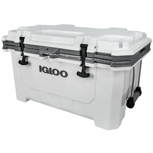 The Igloo IMX 70 super tough heavy duty cool box is durable and extra strong perfect for camping fishing angling trips on sea or boat and even camping 49830