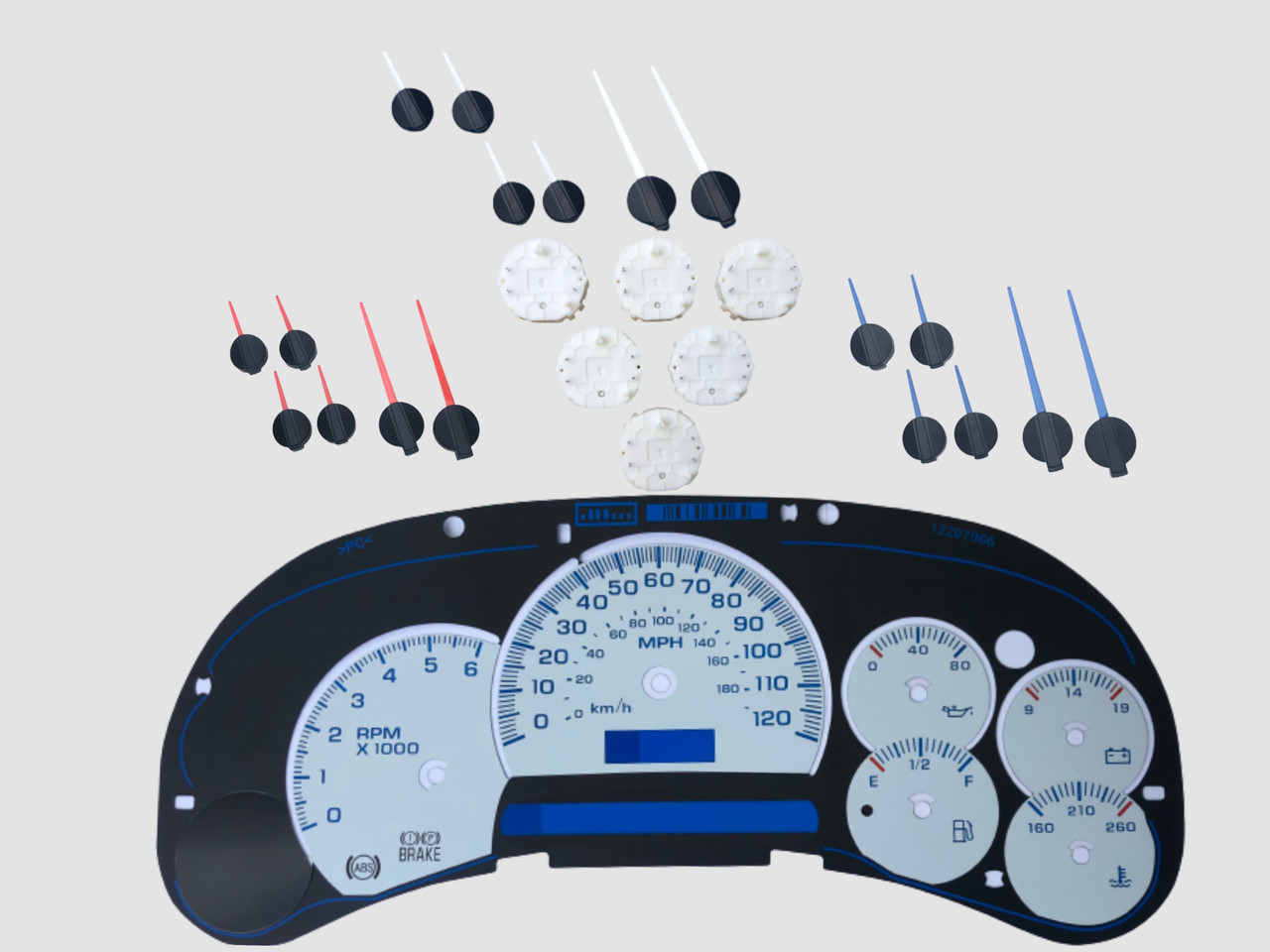 Custom Gauge Faces And Kits Upgrade 6 Gauges 2003 2005 Chevy Gmc Truck Suv