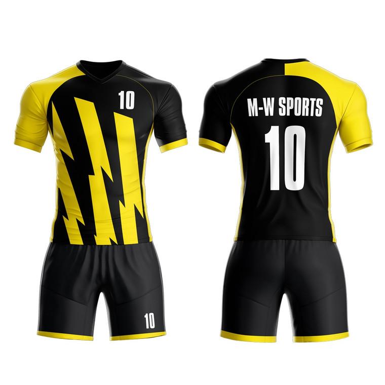 New Season Soccer Jersey Design Custom Sublimation Sports Wear Men Football Kits For Teams