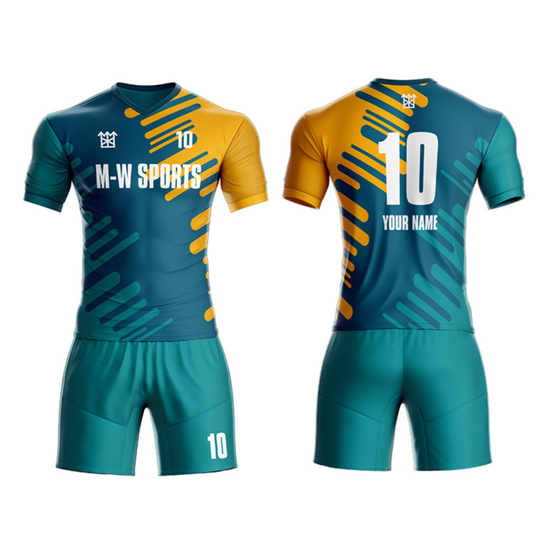 Sublimation Printed Football Shirt OEM Custom Made Kids Soccer Jerseys Soccer Kits Uniform Team Shirt Soccer Wear