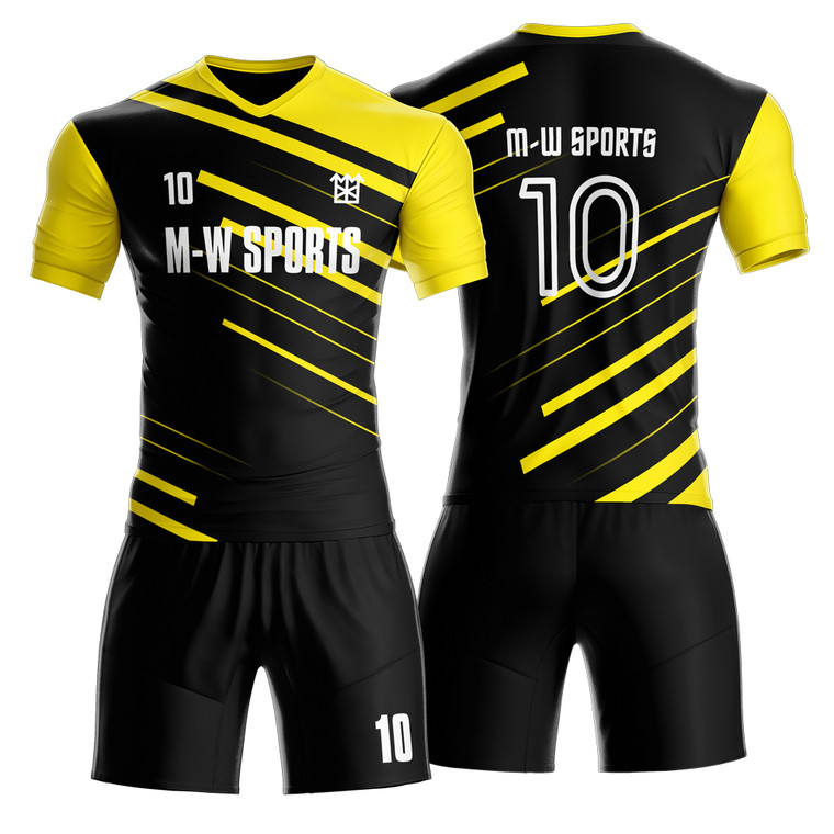100% Polyester Team Football Jersey Sublimated Soccer Jersey  Customized Youth Soccer Jerseys Uniform