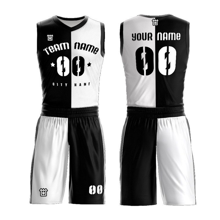 Best youth sublimated men's custom basketball uniform set design