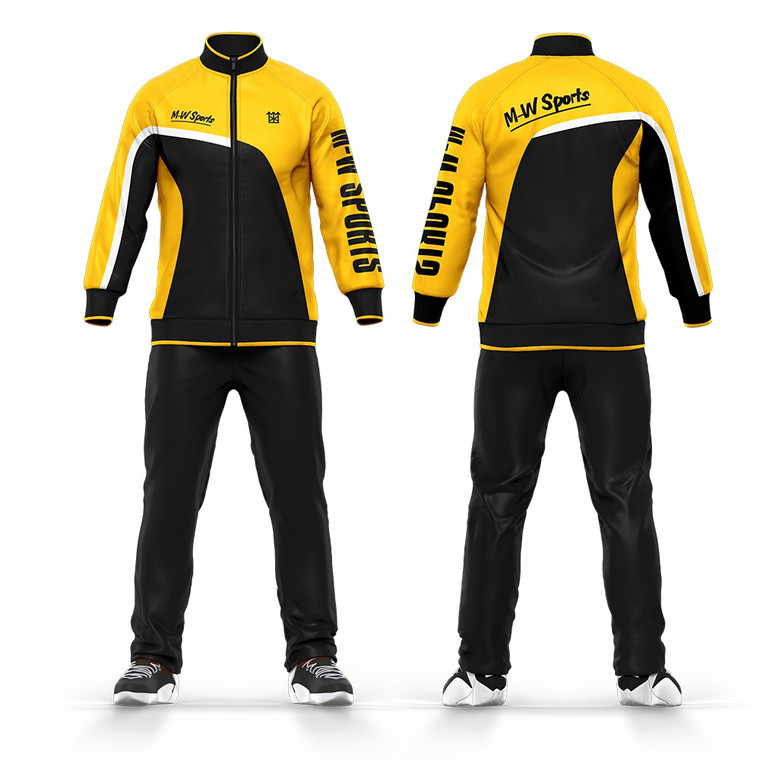 Custom 100% Polyester Team Training Suit Sublimated Men Tracksuits For Sale