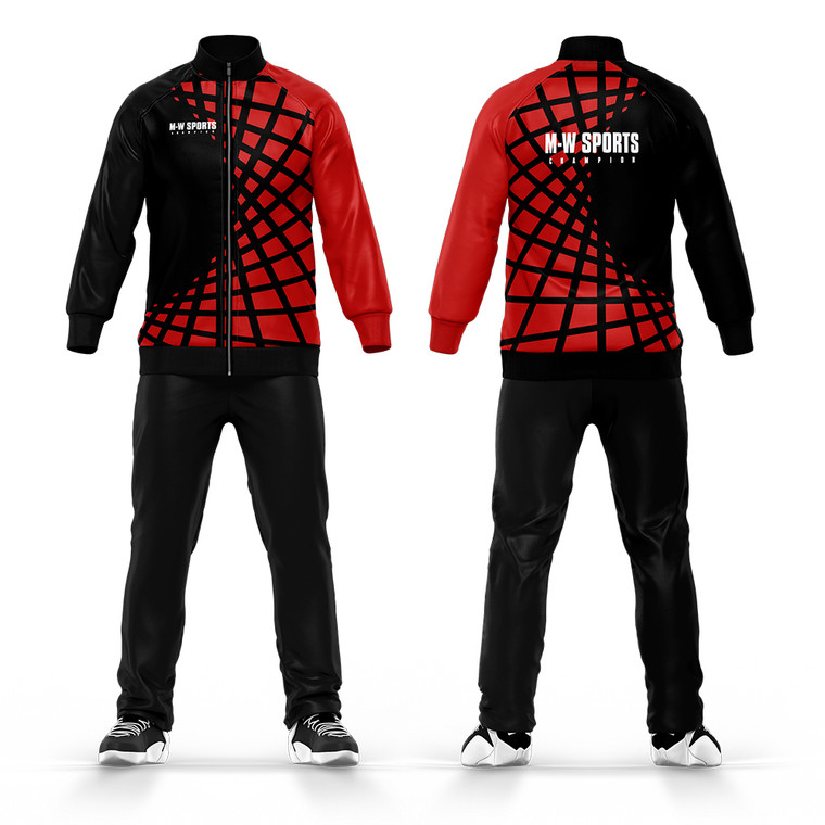 Wholesale Design Your Own Sublimated Printing Tracksuit Slim Fit Gym Wear Sports Men Tracksuits