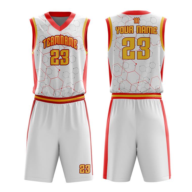 Custom Your Own Team Basketball Uniforms Mens Sublimation Printed Basketball Jerseys