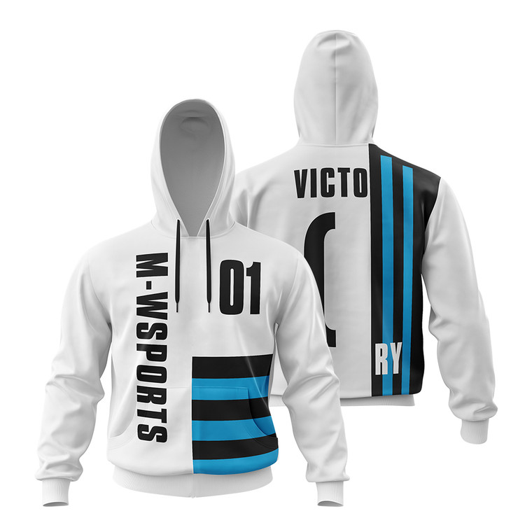 Add Your Own Text and Design Sublimated Print Custom Personalized Sweatshirt Hoodie