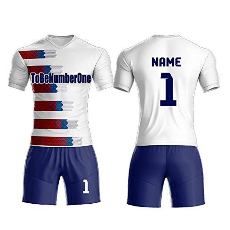 High Quality Polyester Sublimated Printing Dry Fit Men Custom Logo Name Number Soccer Jersey