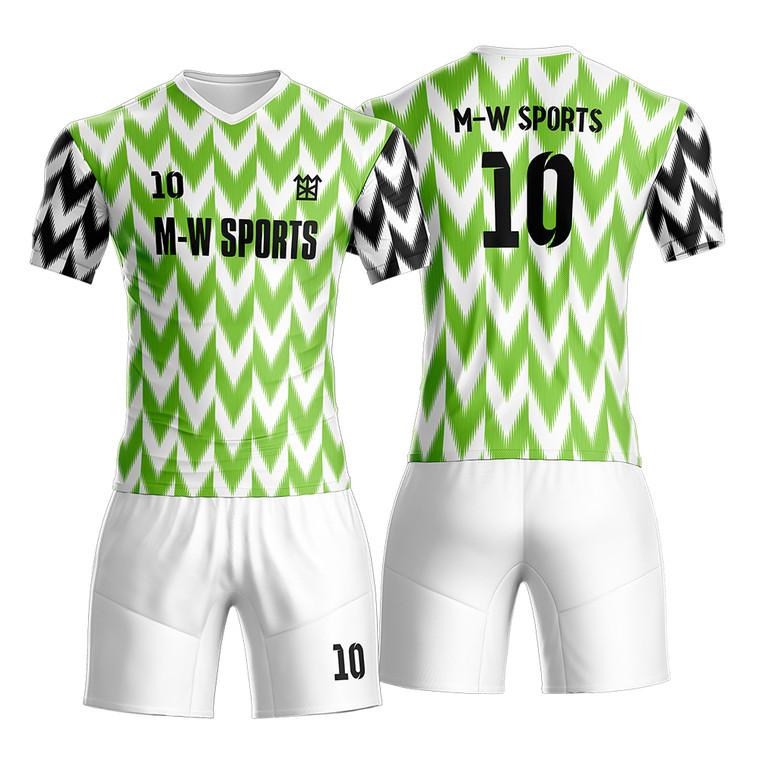 Custom Quick Dry Soccer Training Kit Nigeria Soccer Jersey Design Sublimation Custom Soccer Jersey