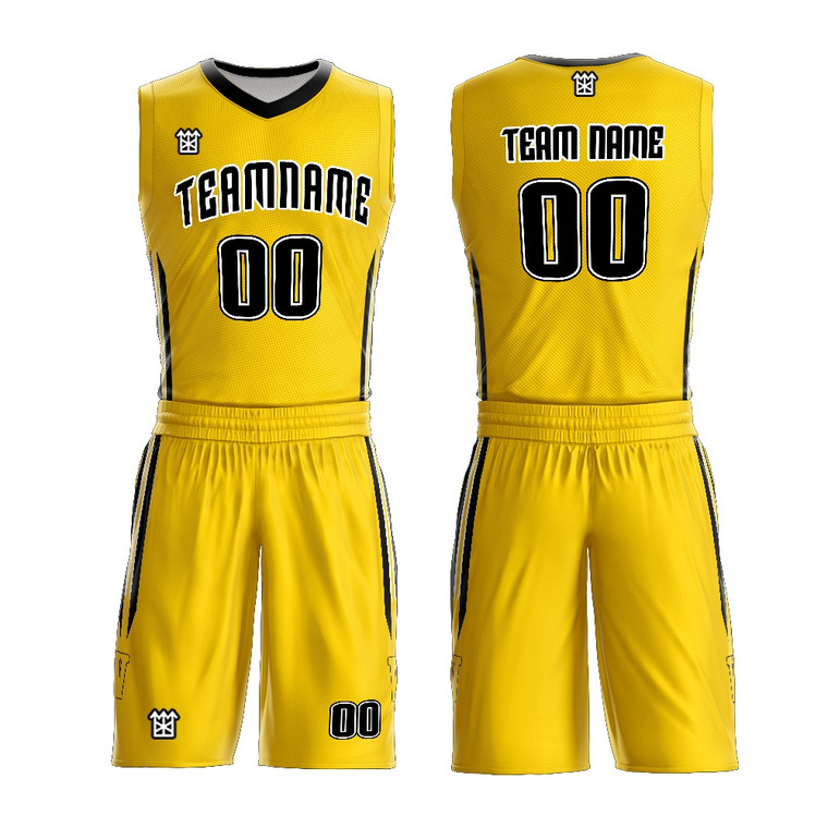 Custom Your Own Team Basketball Jersey Wear Design Yellow White Youth Basketball Uniforms