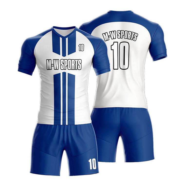 Custom Men Stripes Soccer Uniforms Design Your Own Soccer Jerseys For Sale