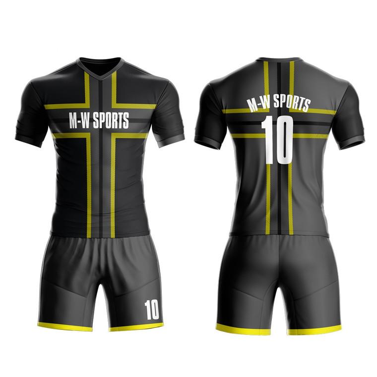 Custom New Model Latest Designs Men Football Shirt Maker Stripes Soccer Jersey