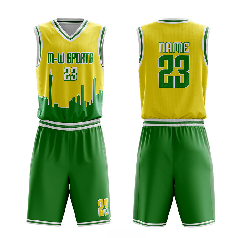 Customized City Series Basketball Uniform Vest And Short Design Personalize Sublimated Basketball Clothing Team Wear