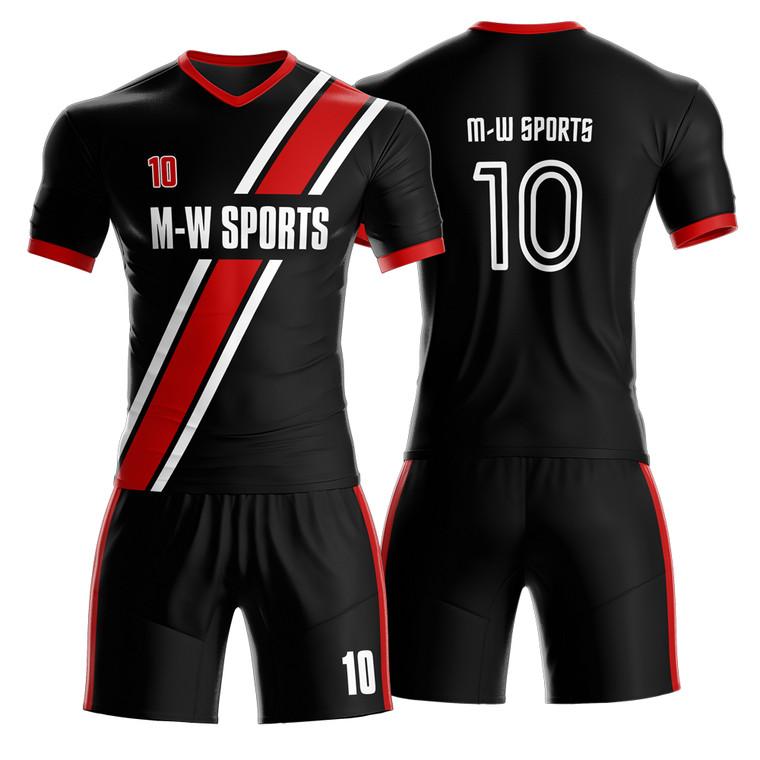 Hot Selling Design Custom Logo Name Number Dry Fit Breathable Soccer Team Uniforms