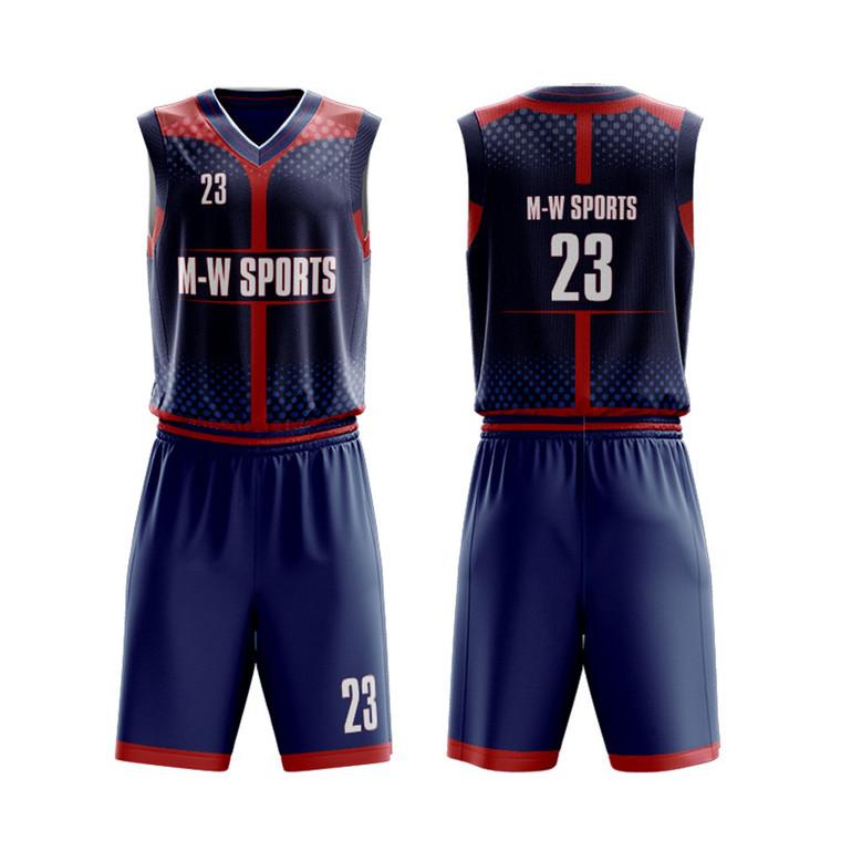 Custom Plain School Youth Navy Basketball Uniforms Set Wholesale