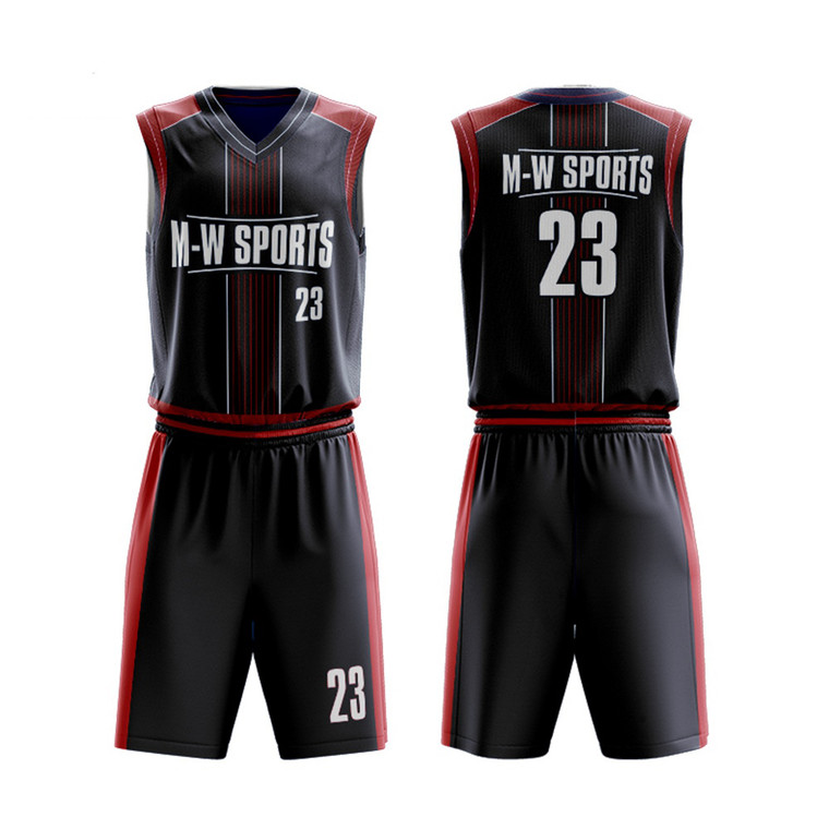 Full Sublimation Printing Basketball Uniforms Free Design Customized Basketball Jerseys School Team Basketball Sports Wear